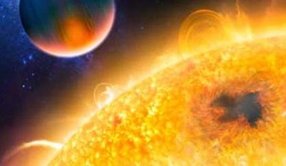 Resultado de imagen para Aparece mancha solar que duplica diámetro de la Tierra