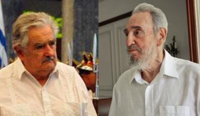 Resultado de imagen para Fidel y Mujica